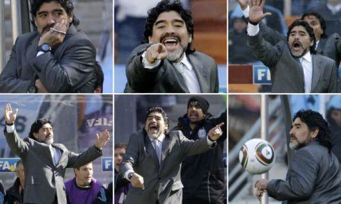 Diego Maradona in World Cup 2010