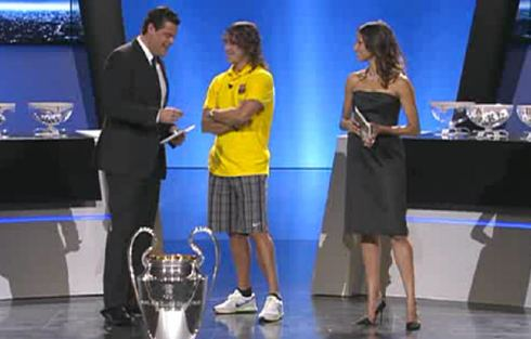 Carles Puyol wore his finest pair of shorts to the CL draw‎