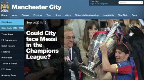 Could City face Messi in the Champions League?