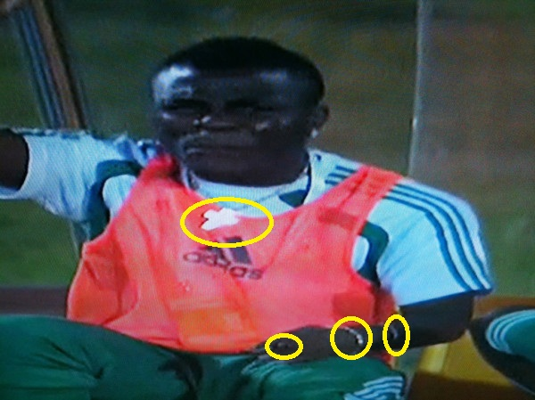 Nigerian Player with gold chains and rings