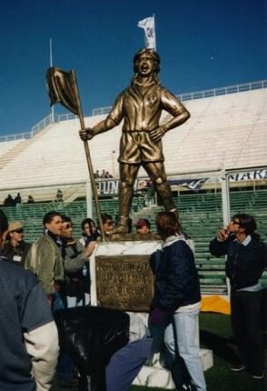 Batistuta Statue at Fiorentina