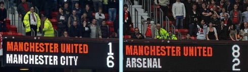 Full Time Manchester United 1-6 Manchester City