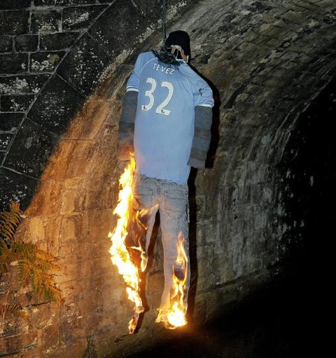 Tevez is Burning