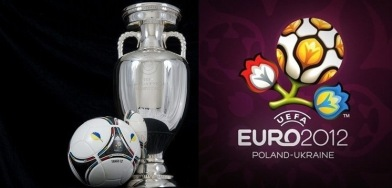 euro 2012 trophy and logo