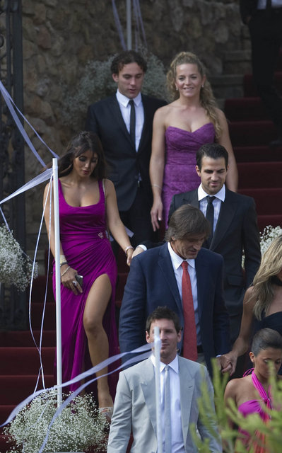Daniella Semaan and Cesc Fabregas - Iniesta Wedding