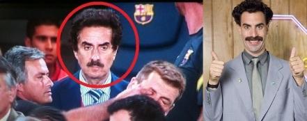 Jose Mourinho eye poking Tito Vilanova