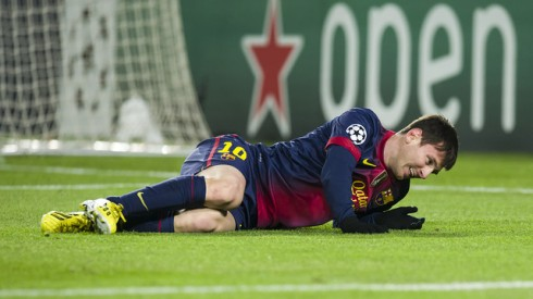 messi injury against Benfica
