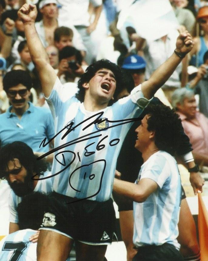 Diego Maradona's Autograph