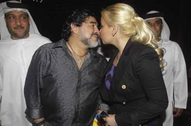 Diego Maradona and 'New Mother' Veronica Ojeda, earlier in Dubai