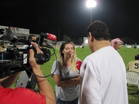 Dalma Maradona being interviewed in Dubai