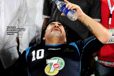 Maradona Refreshing After the Match - CLICK the photo to see all the shots