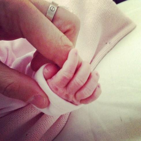 Cesc Fabregas first photo of his newborn Lia, from his Lebanese Girlfriend Daniella Semaan
