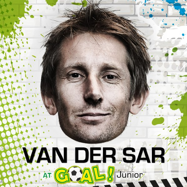 Edwin van der sar at Goal Junior - The Dubai Mall