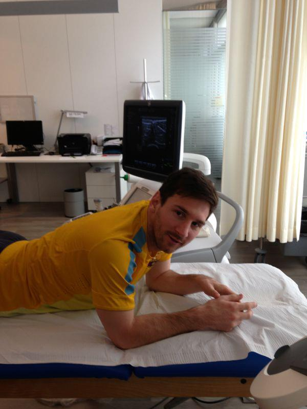 "Messi said on his Facebook page: ""I will return soon, thankfully it was not so serious."" Let us hope soon is not 10 April, for his own sake."