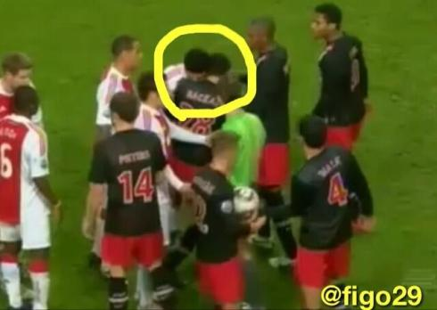 Suarez has been in trouble for biting opponents before, having been banned for seven matches after an incident while he was Ajax
