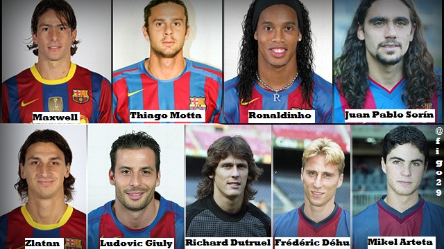 The 9 player that played for PSG and Barca