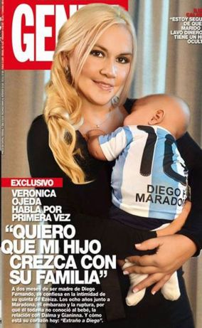 Ojeda is also in a legal dispute with Claudia Villafane, who is Maradona's ex-wife, as she claims Villafane threatened to harm her if she continued with the pregnancy.