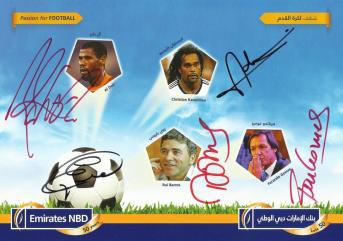 The Emirates NBD card for the fans to get the autographs of the players
