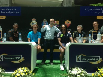 Wael with Santi Ezquerro, Aldair, Rui Barros, Fernando Gomes, and Christian Karembeu