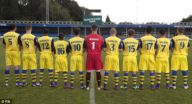 The Farnborough Football Club Squad