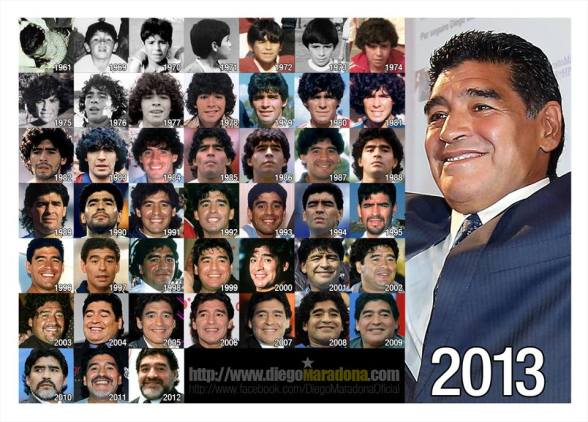 Football was born when Maradona was
