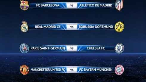 champions league quarter finals draw