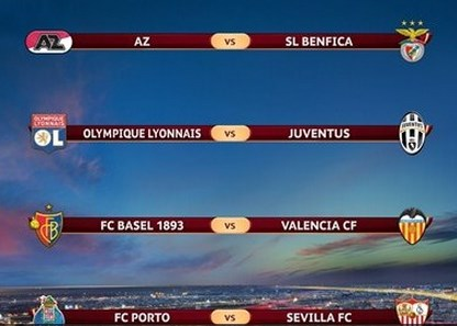 europa league quarter finals draw