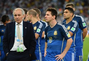 lionel messi after the world cup final loss to germany